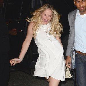 Jennifer-Lawrence-Wearing-White-Dress-Chopsticks