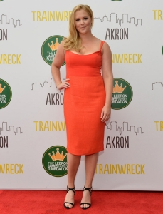 "AKRON, OH - JULY 10: Amy Schumer at Montrose Stadium 12 for the screening of ""Trainwreck"" on July 10, 2015 in Akron, Ohio.  (Photo by Duane Prokop/Getty Images for Universal Pictures)"