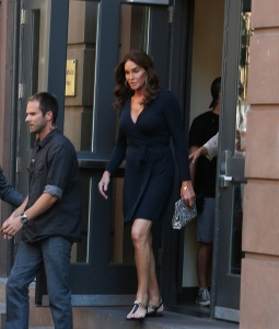 Caitlyn Jenner leaves the Lesbian, Gay, Bisexual and Transgender Community Center in West Village in NYC wearing a black dress before heading to dinner. Pictured: Caitlyn Jenner Ref: SPL1064345  290615   Picture by: @PapCultureNYC / Splash News Splash News and Pictures Los Angeles:	310-821-2666 New York:	212-619-2666 London:	870-934-2666 photodesk@splashnews.com